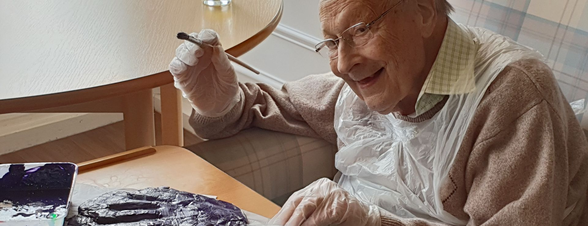 Harold painting-it-purple.