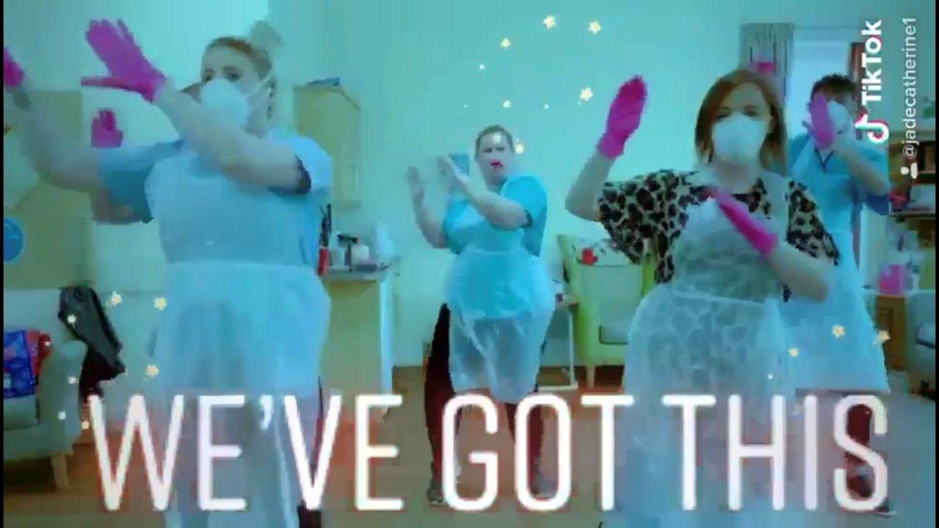Staff at Balhousie Care Group lift spirits with TikTok Challenge