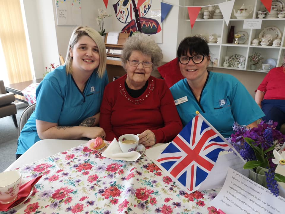Balhousie Huntly hosted a tea party to celebrate 75 years since VE Day