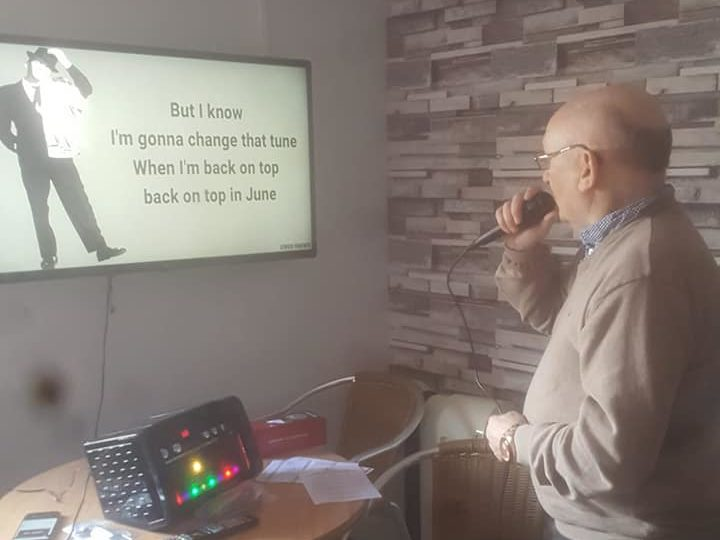 It's karaoke time for residents at Balhousie Clement Park