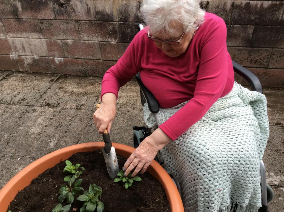 Residents across Balhousie enjoy a spot of gardening when the sun is out