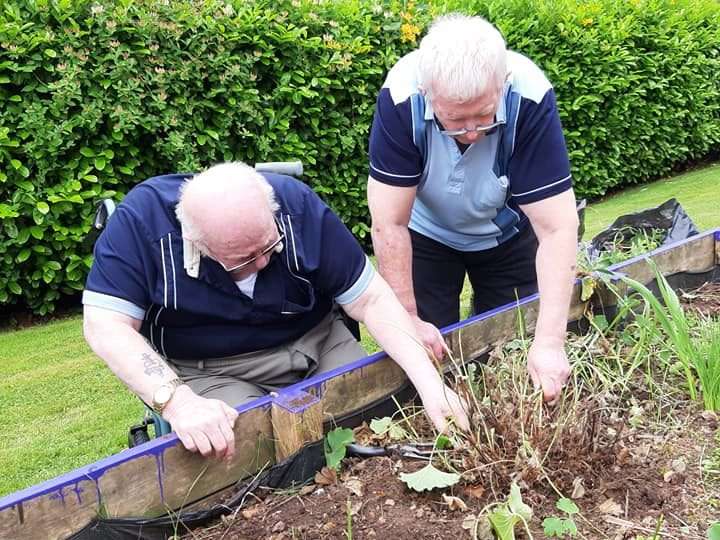 Residents enjoy a spot of gardening at Lisden