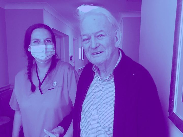Balhousie Pitlochry add a splash of purple to mark Dementia Awareness Week