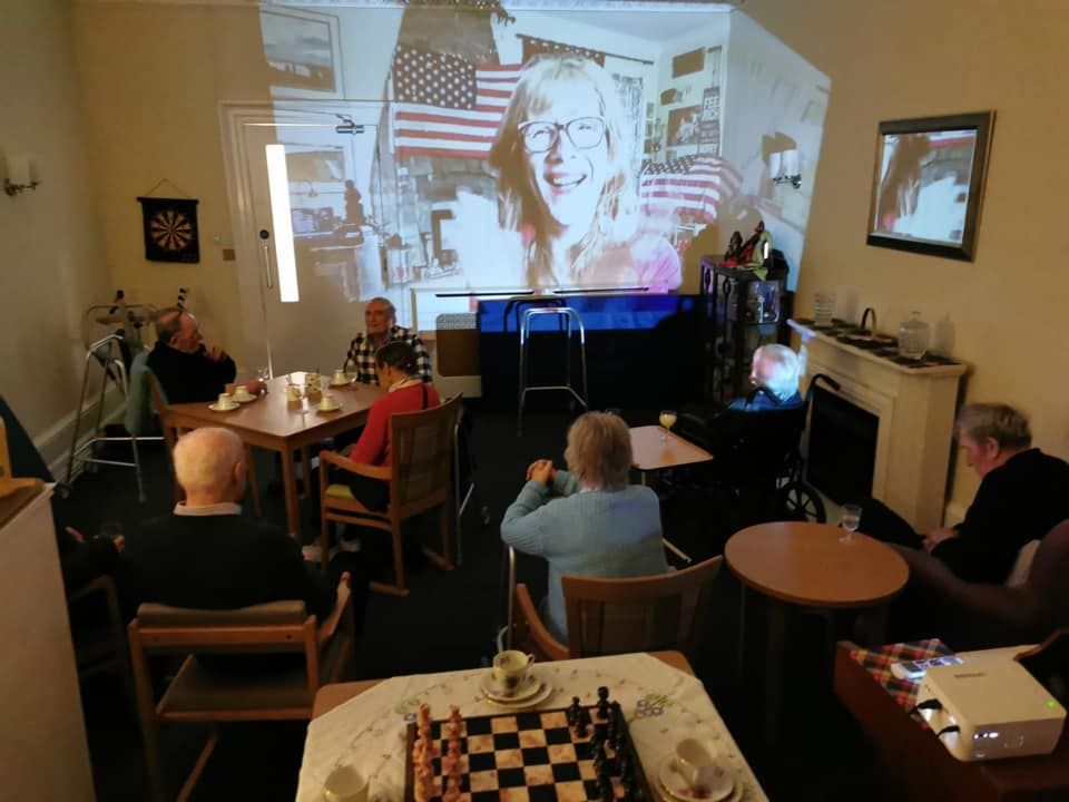 Balhousie Stormont Lodge celebrate July 4th with a sing-song