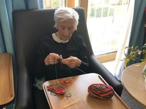 Staff and residents across Balhousie get knitting for 'Close Knit Friends' campaign