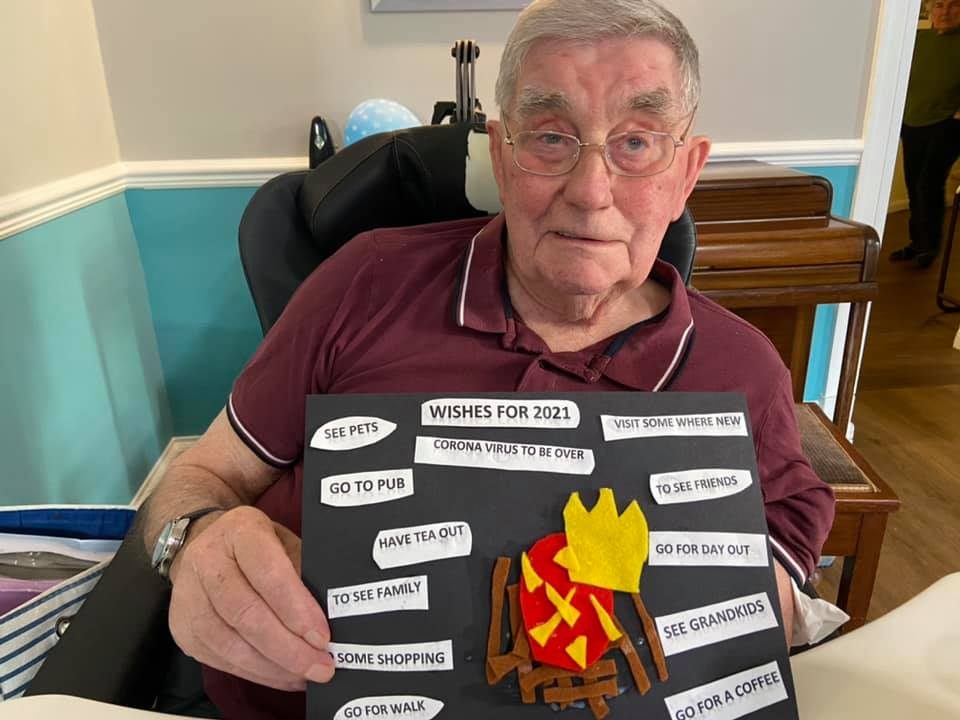 Our residents at Balhousie Glens share their wishes for 2021