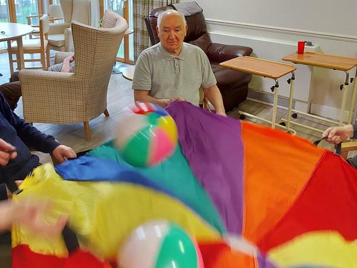 Parachute fun at Clement Park