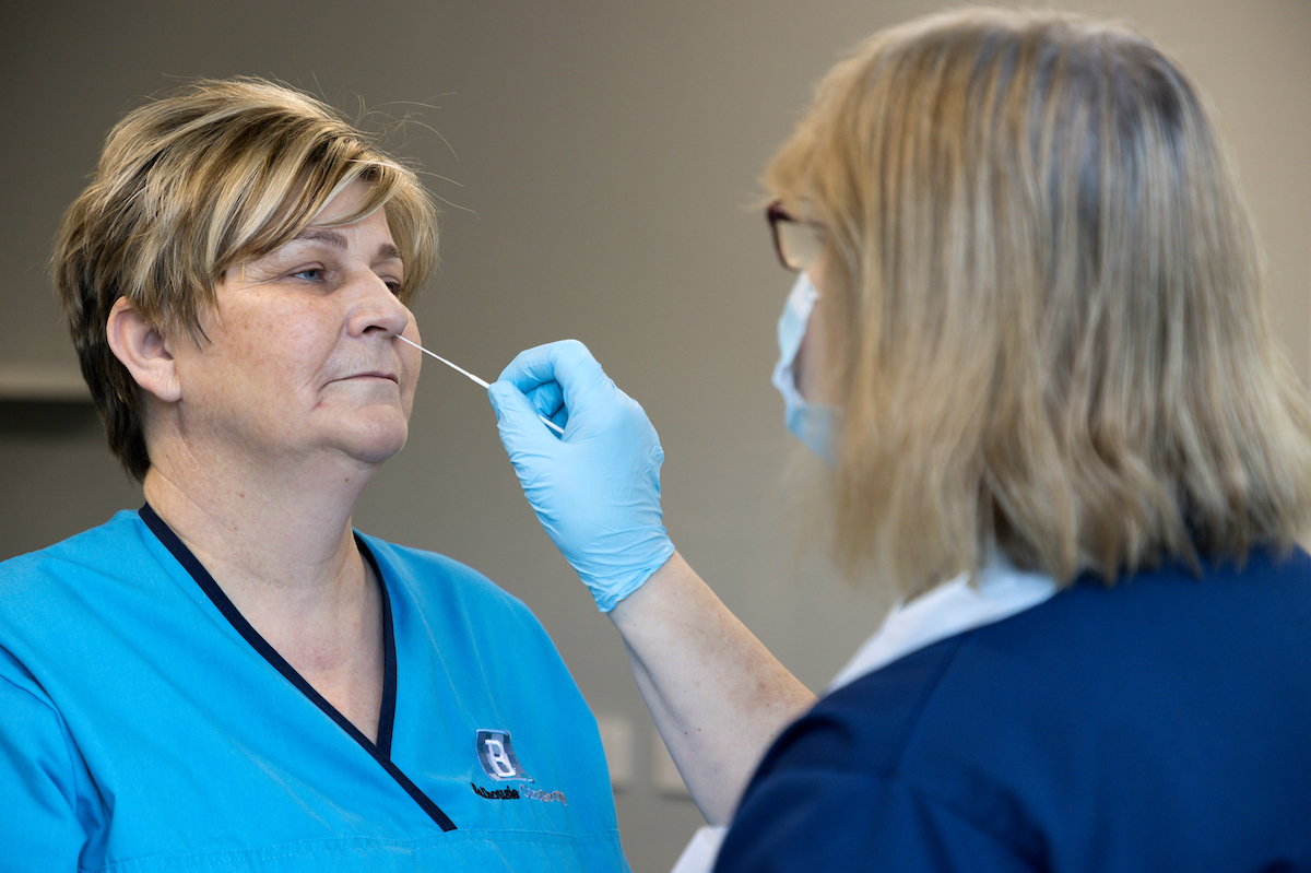 Balhousie Care Group trials rapid response COVID tests as Scotland gets a step closer to in-home care visits
