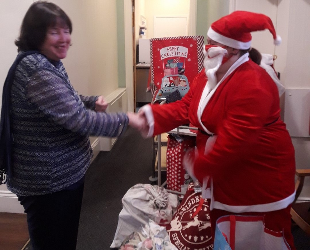 Santa delivers bounty of gifts to ASC