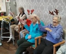 It's all smiles at Balhousie Brookfield as residents enjoy their Christmas party