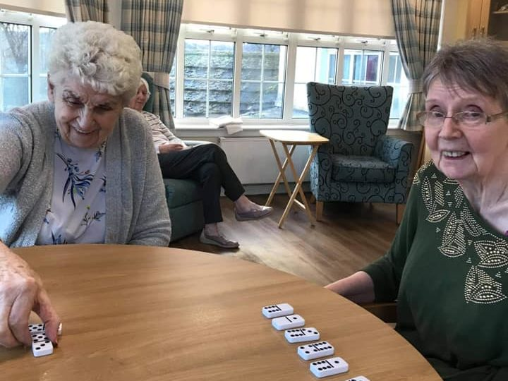 Wheatlands residents brush up on their dominoes and bingo skills
