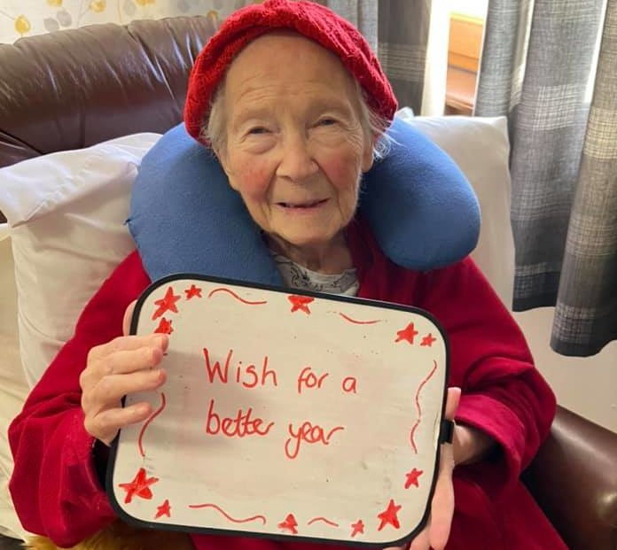 Care home resident Kathy sums up what we're all hoping for in 2021
