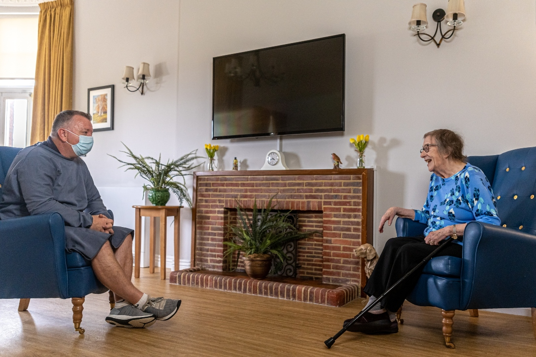 Welcoming relatives again for in-home visits