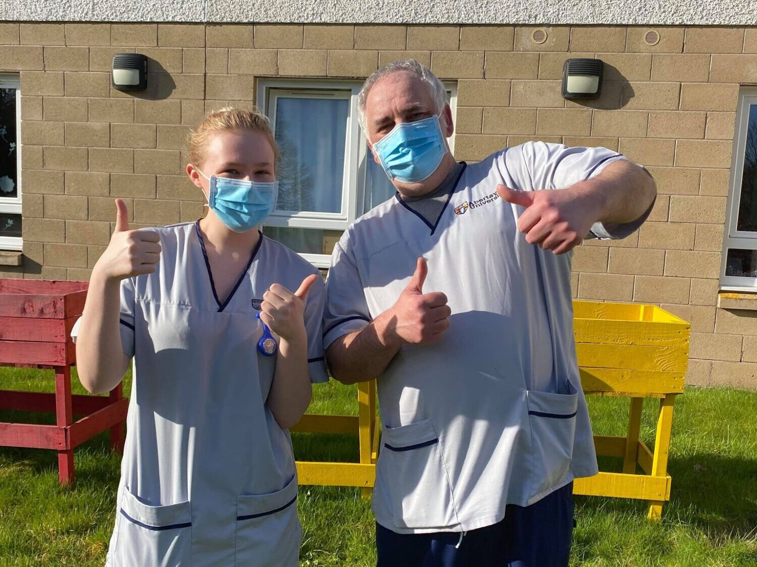 Rumbling Bridge welcomes nursing students, Emma and Mark, to the home