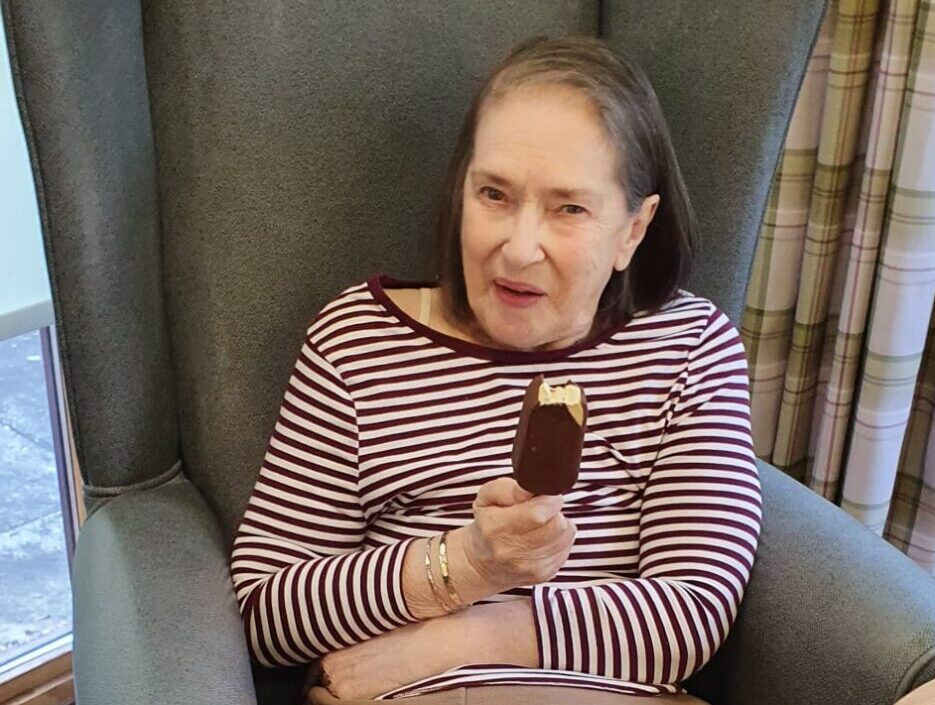 Willowbank residents don't let a cold snap stop them enjoying a choc ice