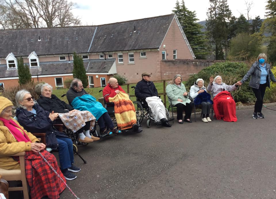 Ruthven Towers don't let the colder weather stop them enjoying outdoor gig