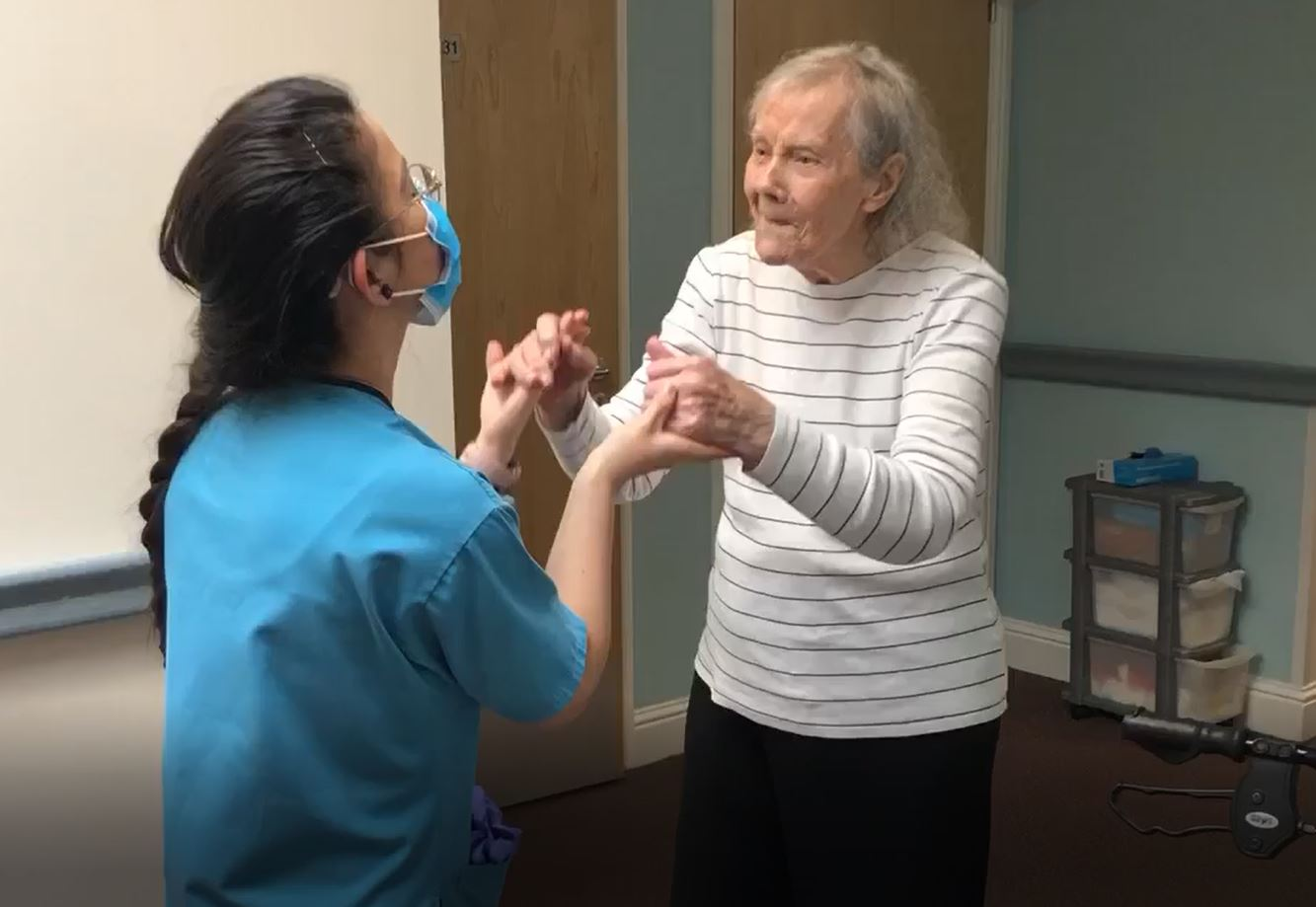 Anne and Naslyn enjoy a special dance at Pitlochry