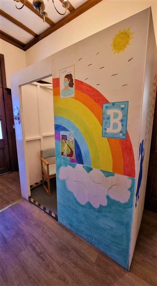 Home-made Colourful Testing pod