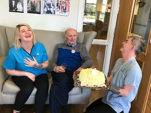 Two residents turn 90 on the same day