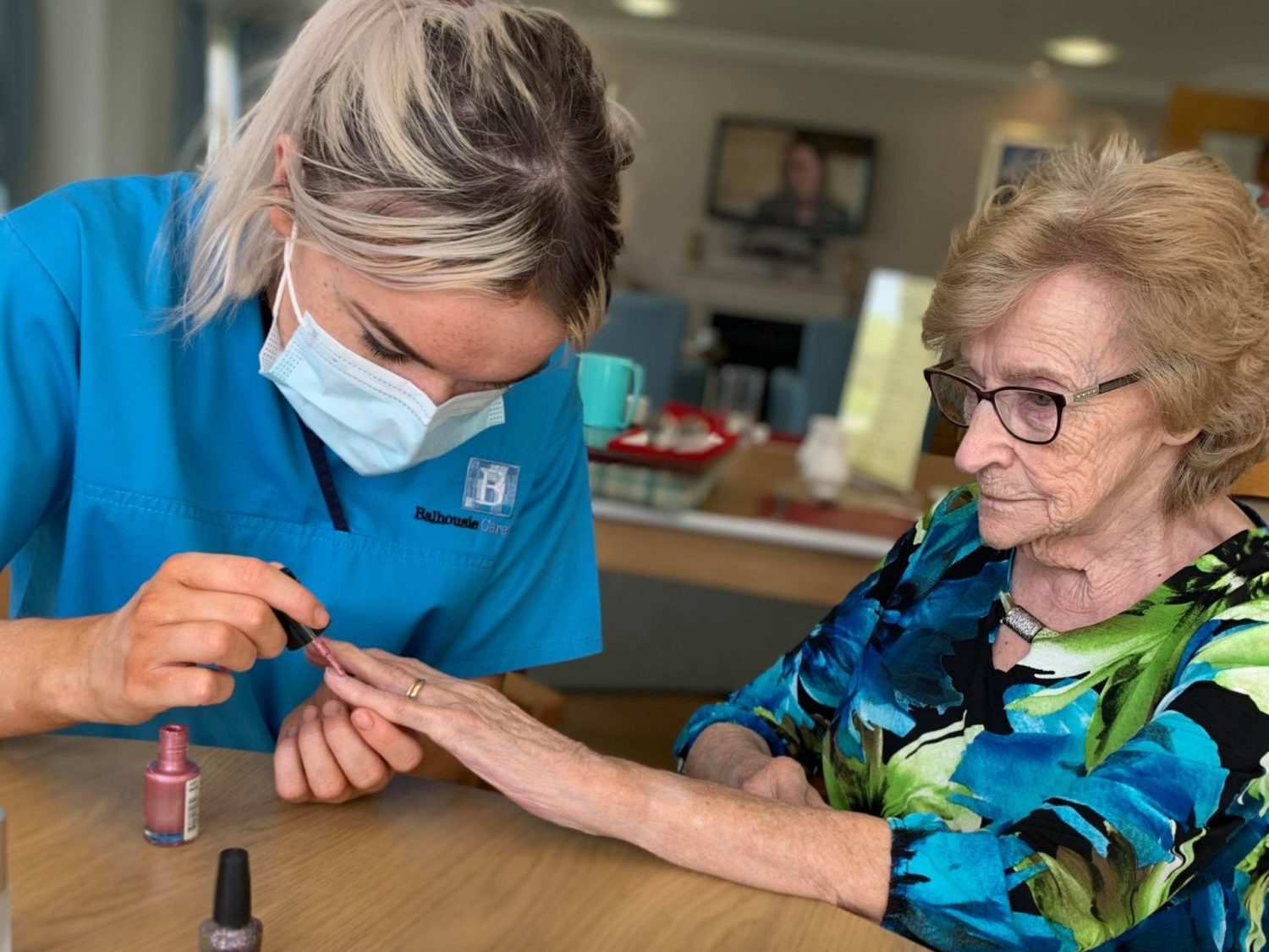 Residents enjoy some pampering at Balhousie Huntly