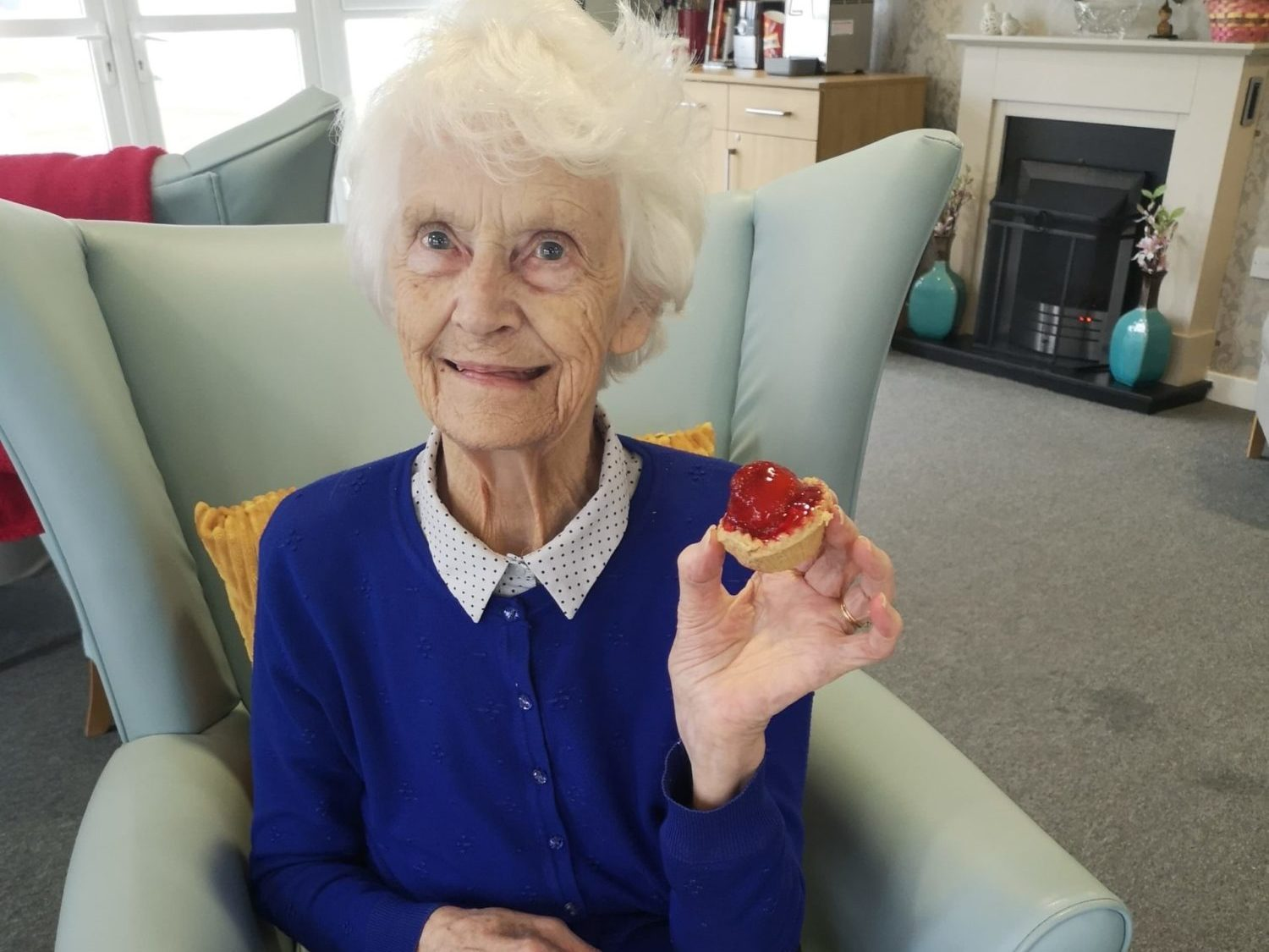 Huntly residents are delighted with their strawberry tarts